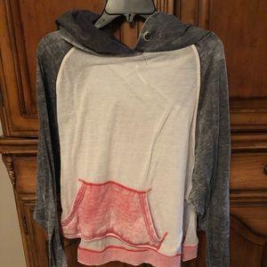 FP, Multi colored hooded lightweight sweatshirt